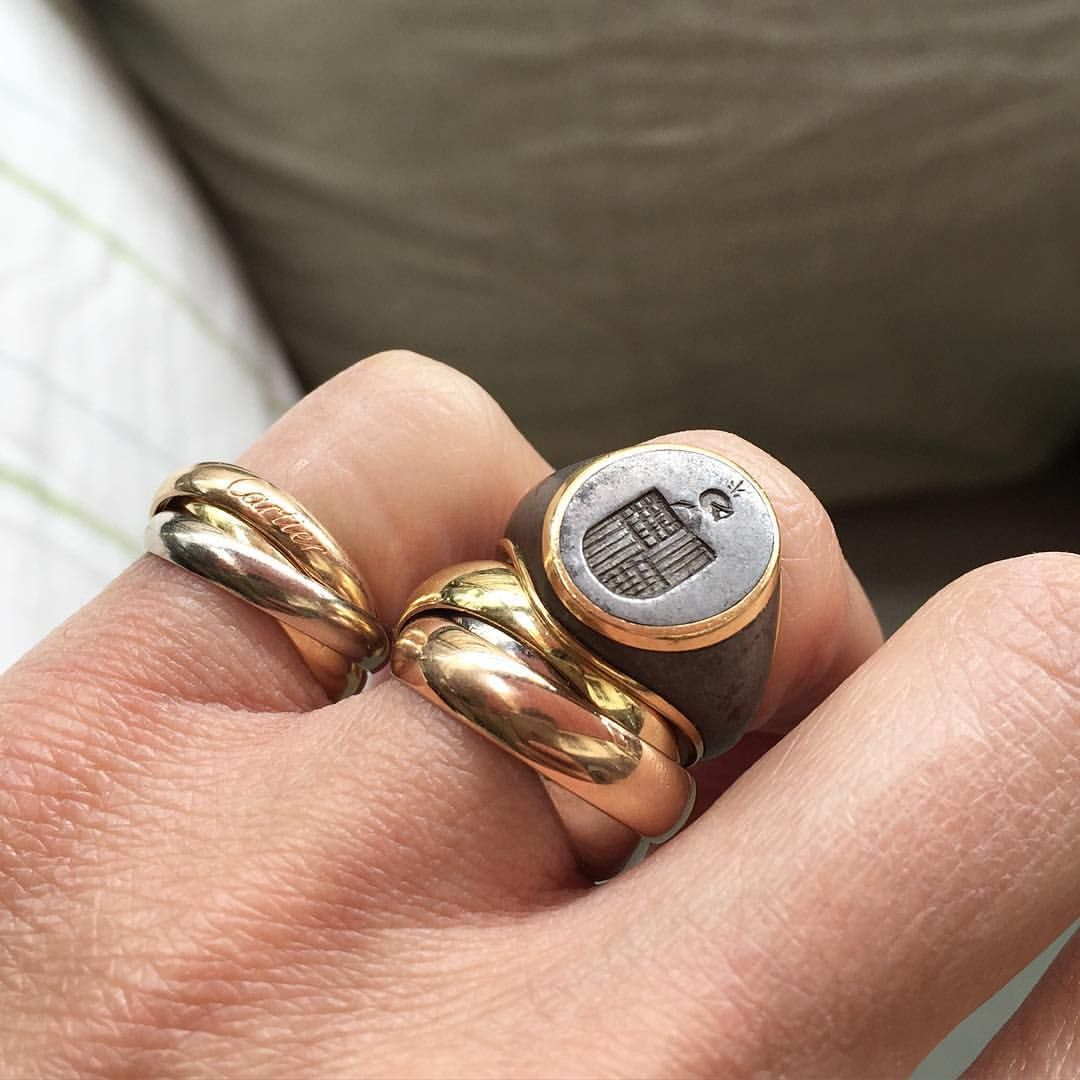 BIRKINBOY sur Instagram Rings CartierTrinityring Cartier