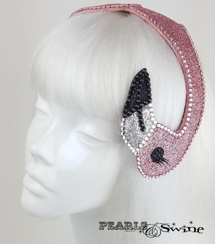 "Pink Glitter Vintage Flamingo Hat ""Fenicottero"""