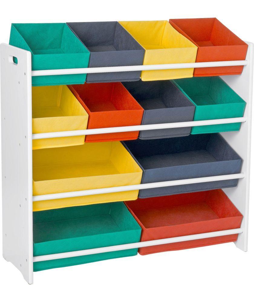 Buy 4 Tier White Childu0027s Storage Unit With Bins At Argos.co.uk