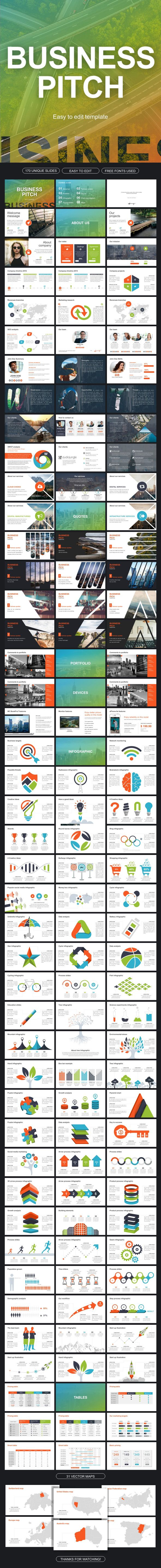 Business Pitch Google Slides | Presentation templates, Template and ...