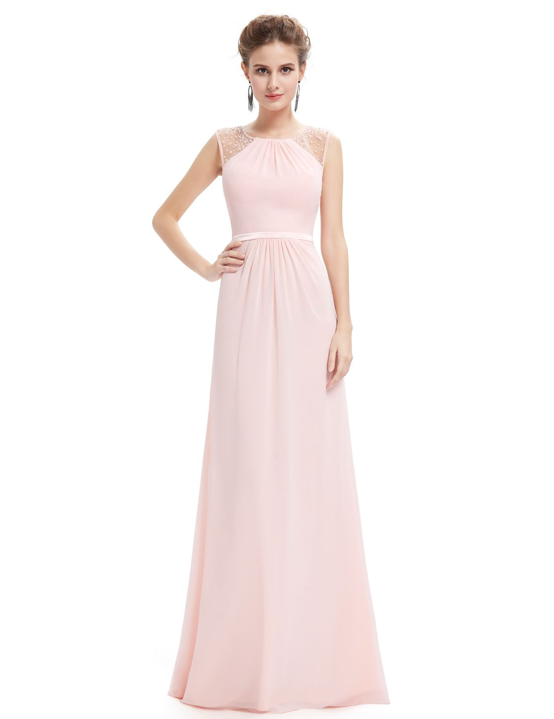 My brides maid dresses  Pink long prom dress! Beautiful dress for prom party ! d478d7307