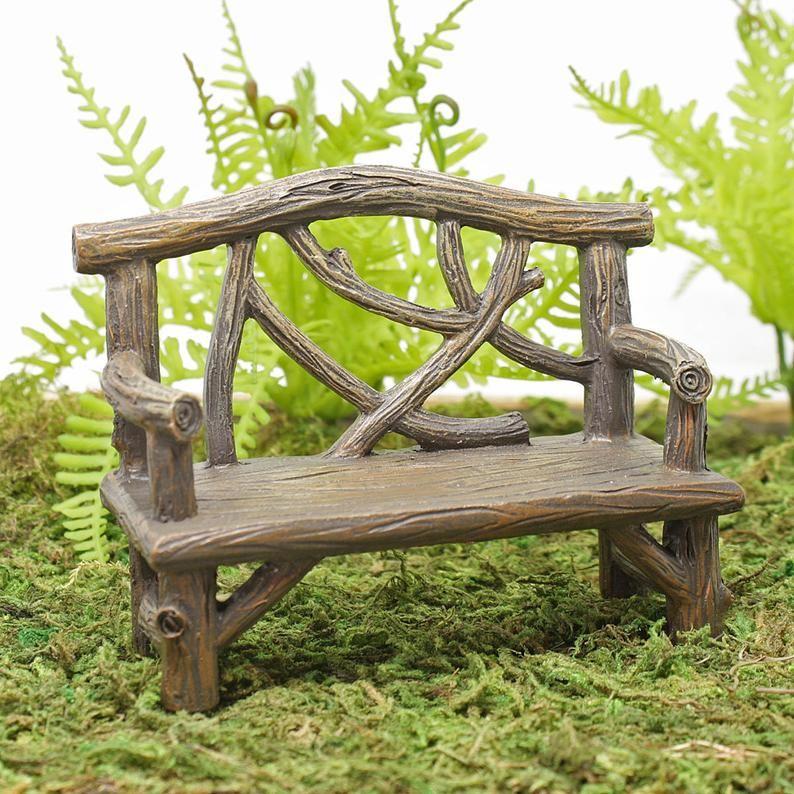 Miniature Fairy Garden Bench, Miniature Garden Furniture Uk