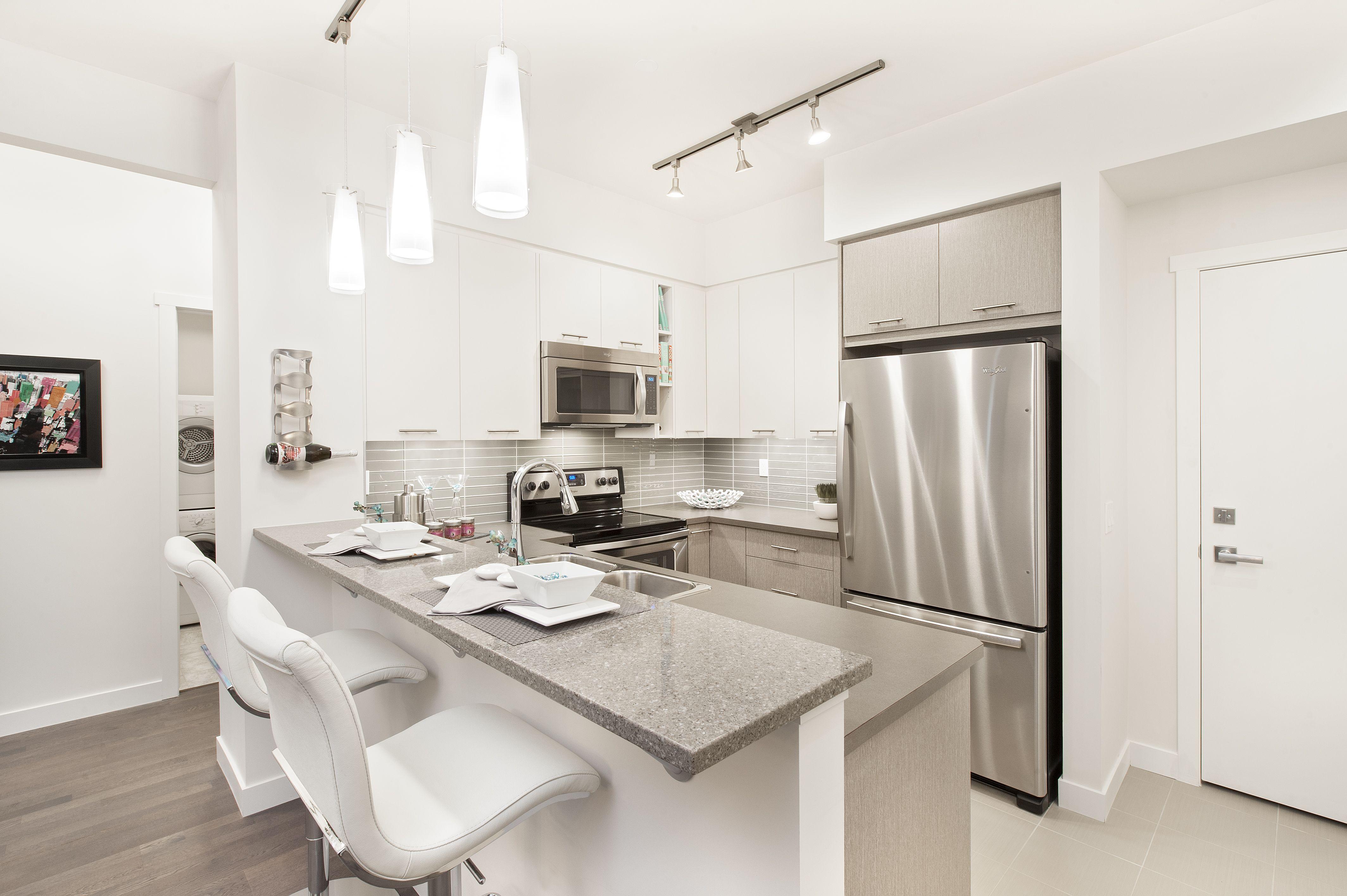 Kitchen Furniture Calgary Bright Fresh Kitchen At Sawyer Silverado New Calgary Condos By Avi