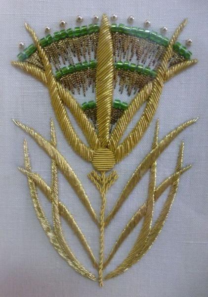 Le Bégonia D Or kit «le motif égyptien» - atelier bégonia d'or - brodeur d'or