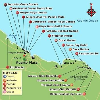 Dominican Republic Map Puerto Plata puerto plata sosua map | Places waiting for me in 2019