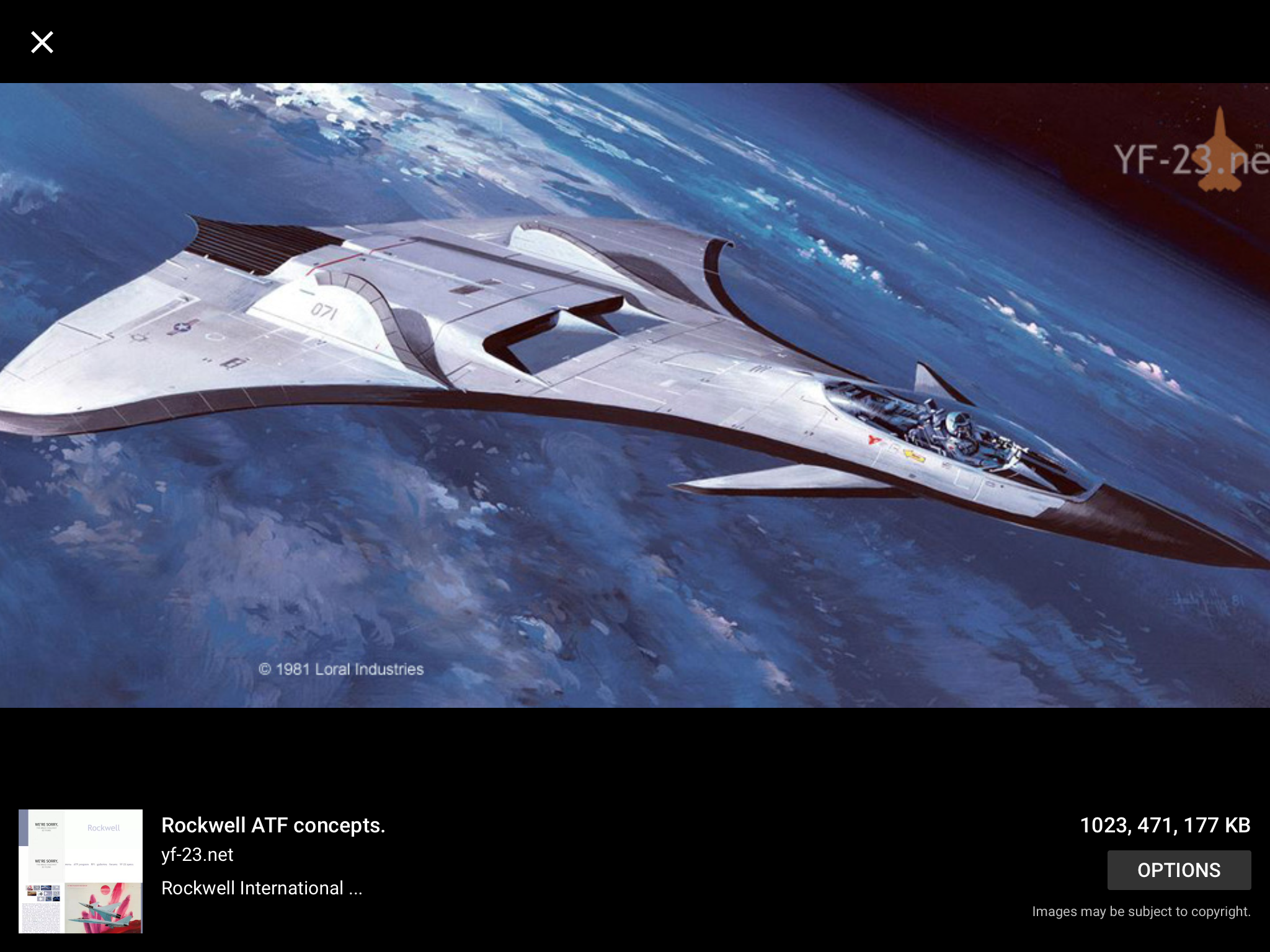 With the recent advances in technology and design aircraft concepts - Rockwell Atf Concept