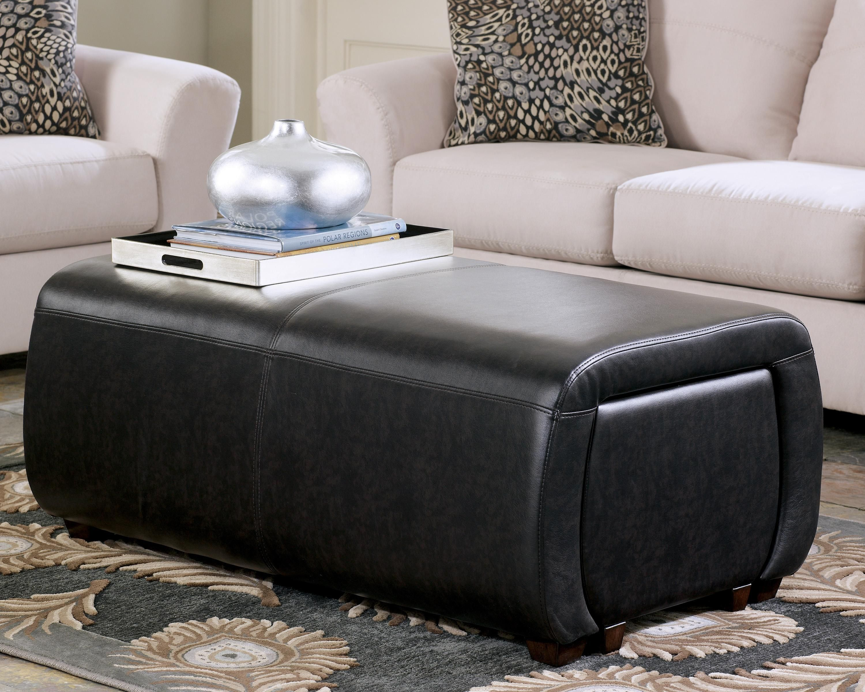 Accara Upolstered Ottoman w/ Cube Storage by Signature Design by ...
