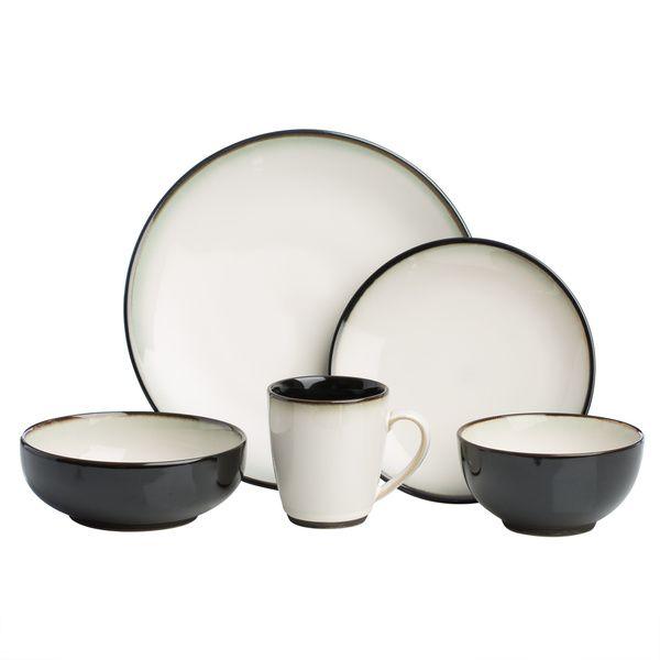 Sango 40-piece Nova Black Stoneware Dinnerware Set  sc 1 st  Pinterest & Sango 40-piece Nova Black Stoneware Dinnerware Set | Kitchen ...