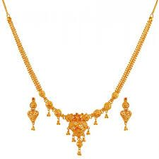 Image Result For Gold Necklace Designs In 16 Grams Gold Bridal Earrings Gold Necklace Designs Gold Necklace Indian Bridal Jewelry