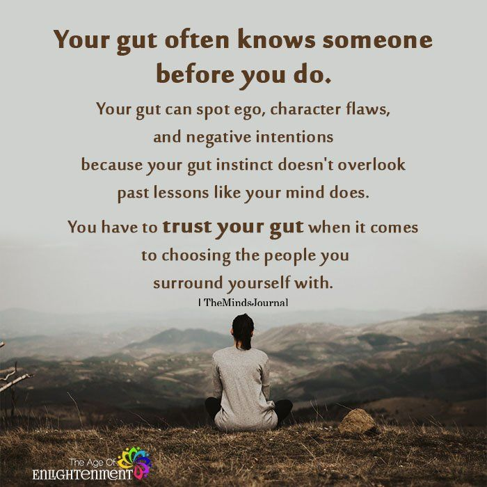 Your Gut Often Knows Someone Before You Do