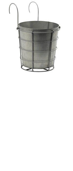 kruka zink hängande 185kr krukor on zink outdoor kitchen id=21569