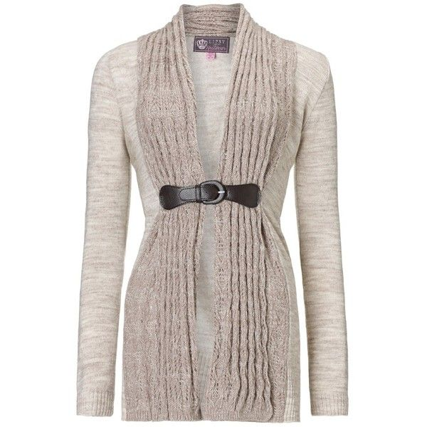 Lipsy Buckle Waterfall Cardigan - Polyvore | Clothes! | Pinterest ...