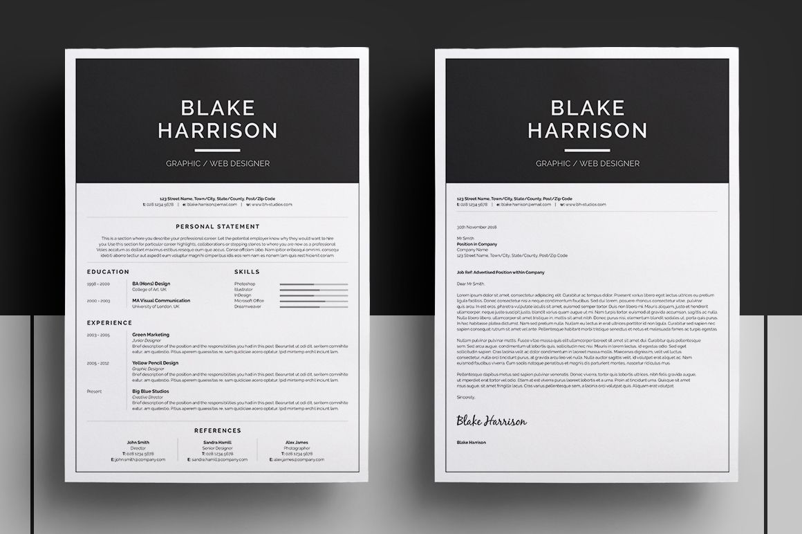 Resume  Cv Template  Blake Introducing Blake A Simple