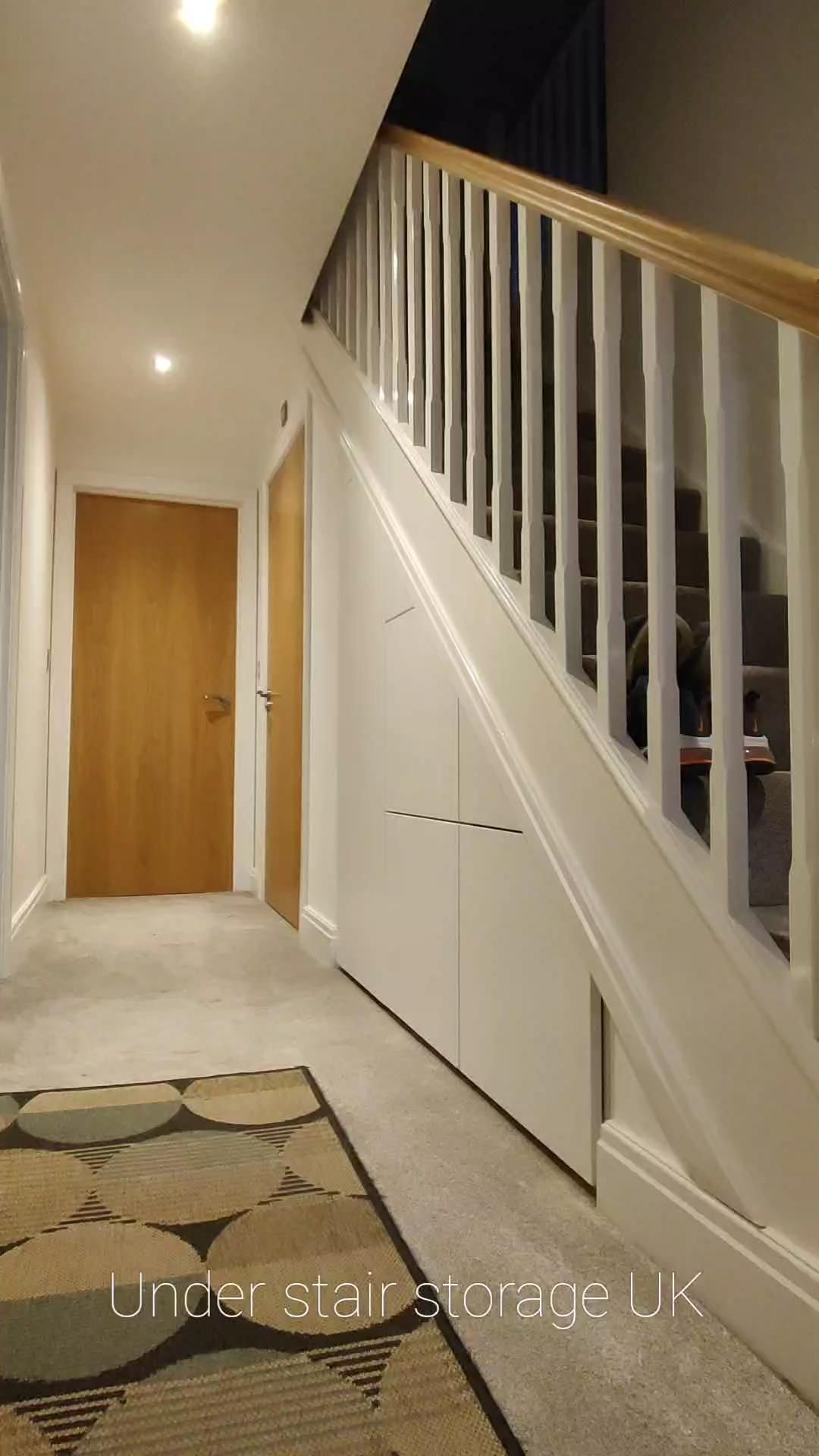 Under Stair Storage solutions supplied and installed in the UK