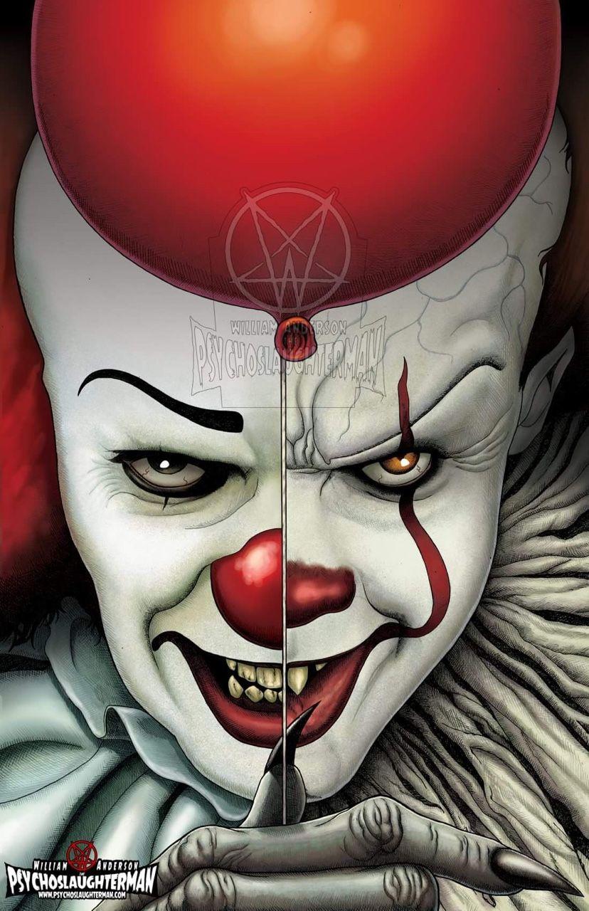 Artwork By Psychoslaughterman Palhacos Assustadores Pennywise O Palhaco Filmes De Terror