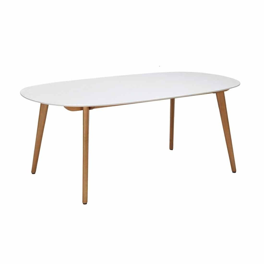 Lifestylegarden Montreux Tisch 190x105 Cm Oval Eukalyptus Duranit Weiss Gartentisch Holz Outdoor Tisch Tisch