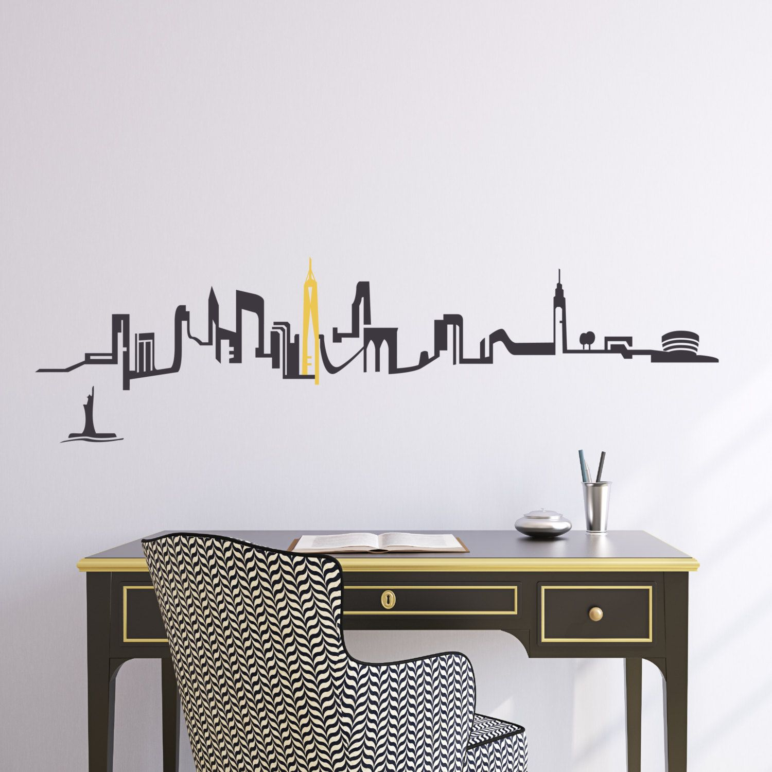 New York City Skyline Wall Decal Pinterest City Skylines City