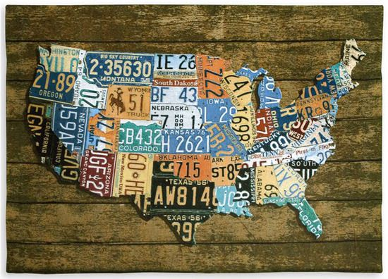 Us License Plates Iii Tapestry Fine Art Tapestries Tapestry Tapestry Wall Hanging