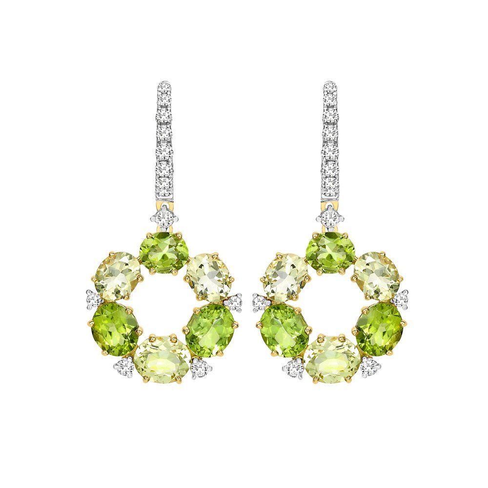 Kiki Mcdonough Lola 18ct Yellow Gold Peridot Lemon Quartz Drop Earrings From Berrys Jewellers Uk