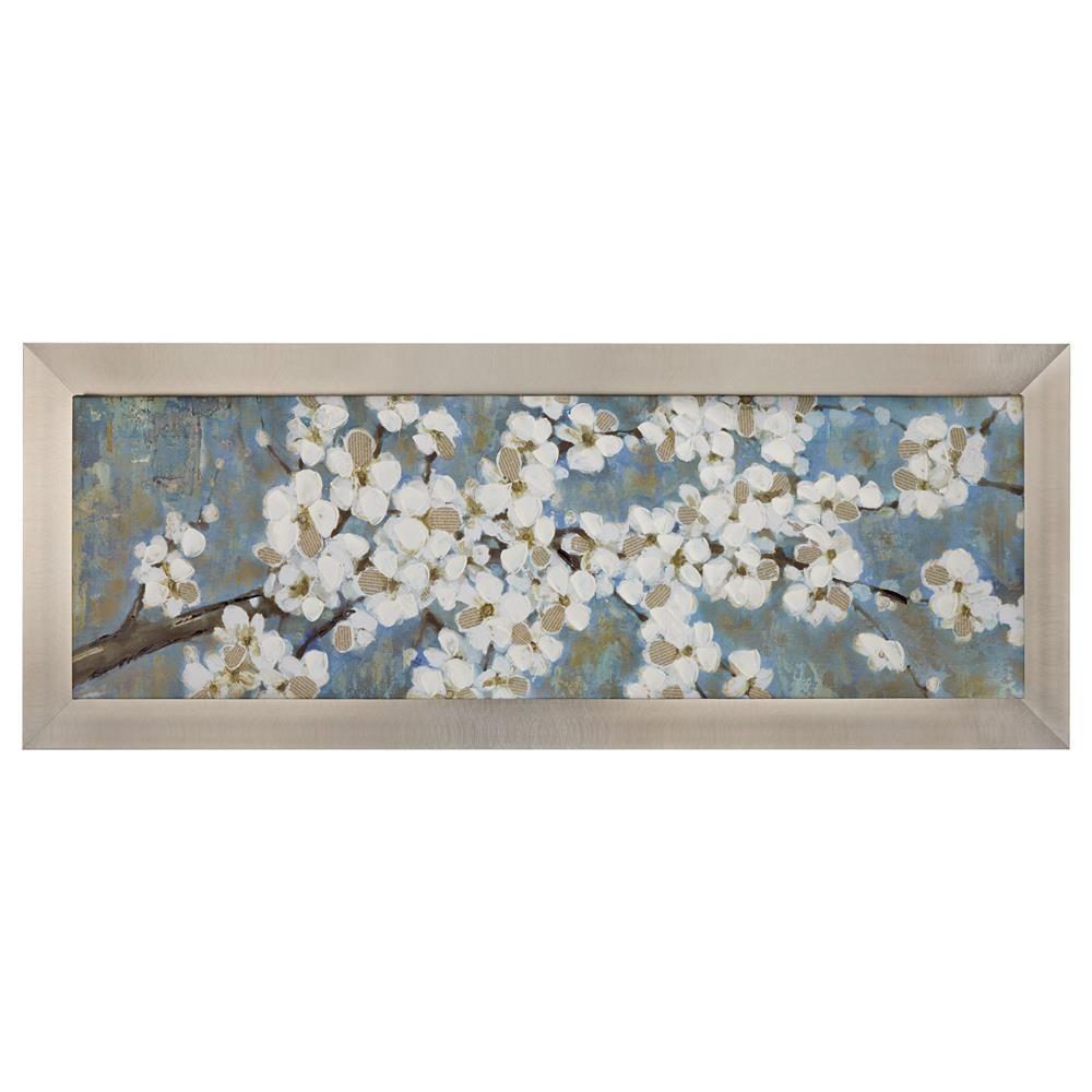 Framed art blue floralframed artwall decorbouclair