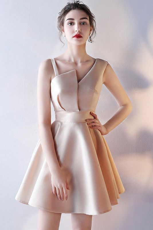 a538a406981 One Shoulder Homecoming Dress