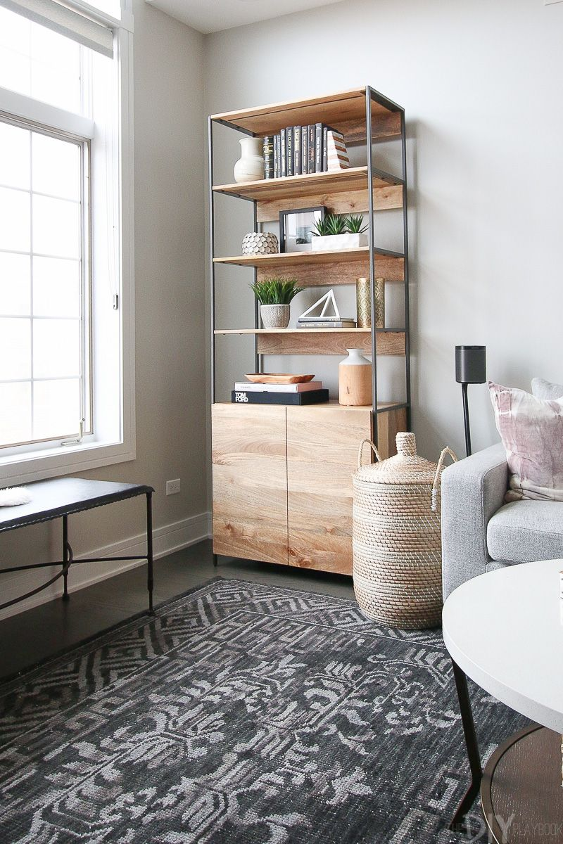 modern and neutral living room space living room design decor rh pinterest com