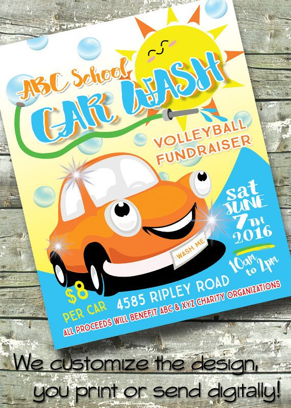 Car Wash Summer Fundraiser 5x7 Invite 8 5x11 Flyer Etsy Fundraiser Flyer Car Wash Fundraiser Summer Fundraiser