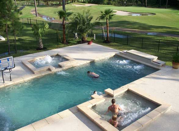 Pool Designs With Spa. The Aqua Group Fiberglass Pools \u0026 Spas   Austin,