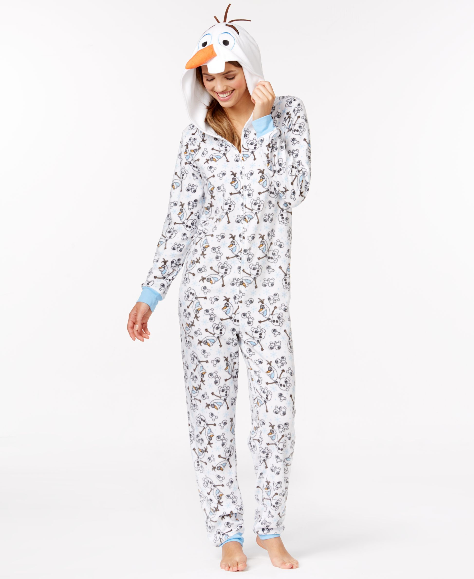 097f89c09 Olaf Adult Hooded Onesie