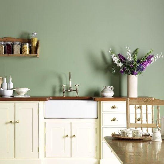 Peinture Vert De Gris Pour Cuisine: Cuisine Vert Sauge
