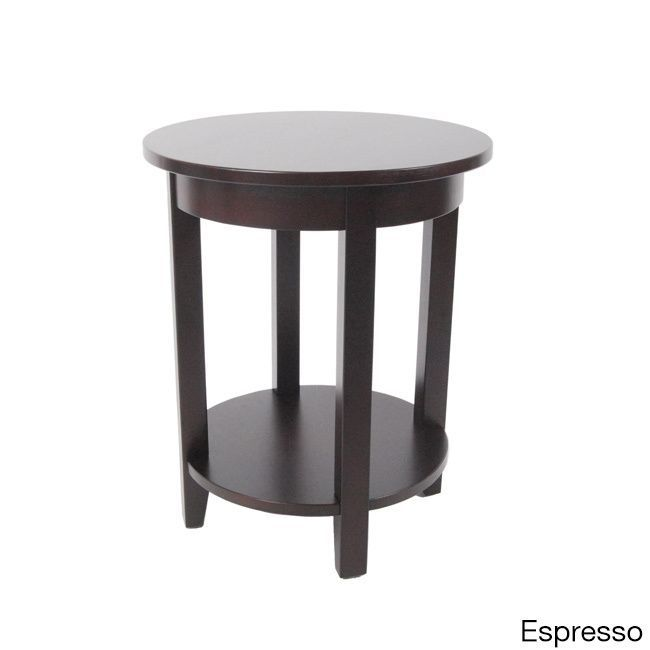 Alaterre Furniture Shaker Cottage Round Accent Table In The Home Depot