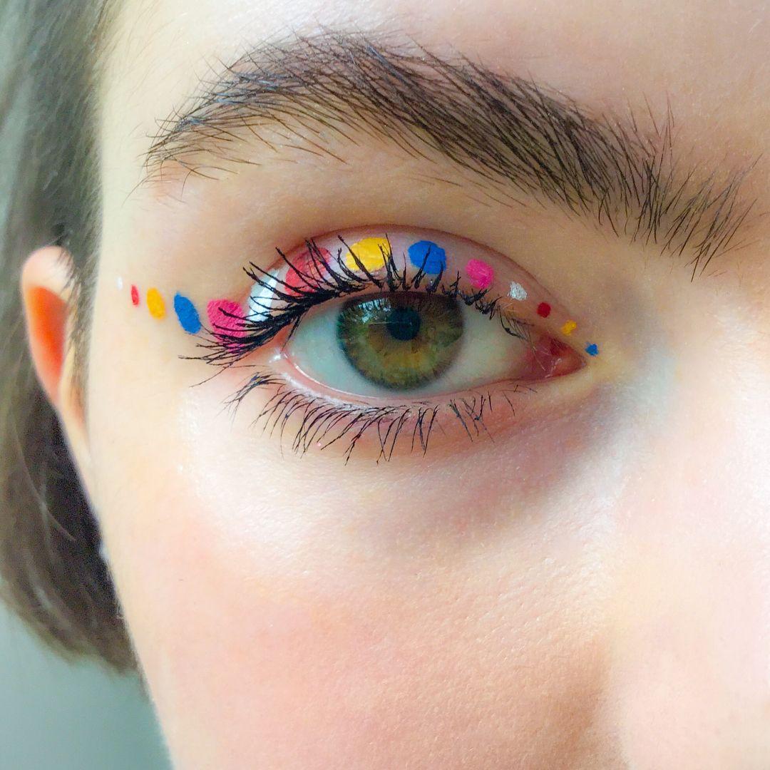 "Photo of Martha Butterworth på Instagram: ""'Dotty about you' @diormakeup"" On Stage liners. #makeupinspo #beautyinspo #diormakeup # eyeliner # eyemakeup # myartistcommunity… """