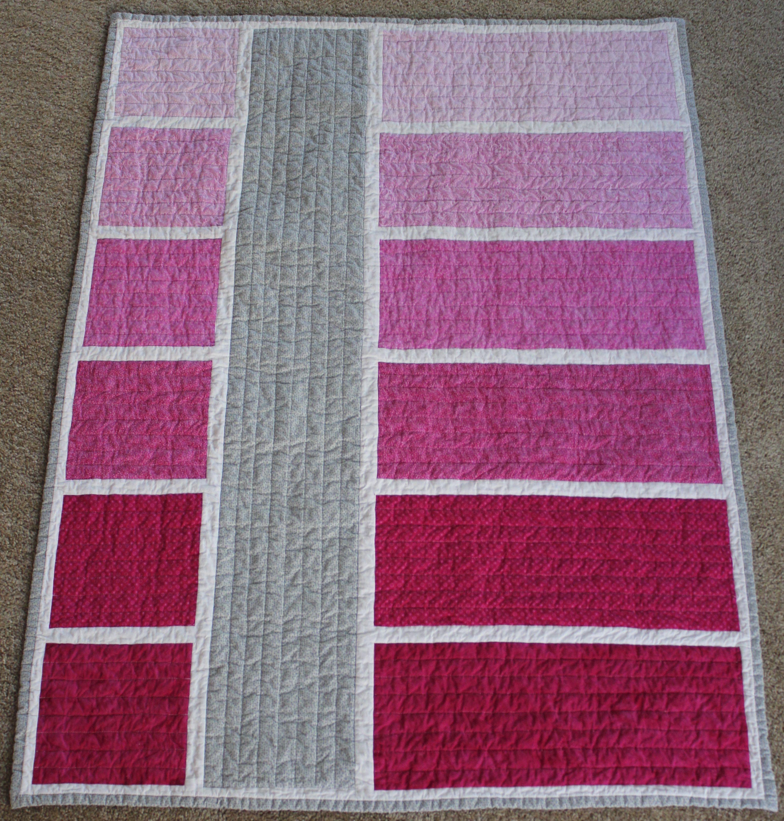 Ombre Color Block Quilt. Love the idea of a different color block ... : quilts and color - Adamdwight.com