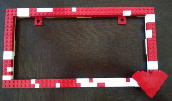License plate frame built with brand new, genuine LEGO (R) blocks ...