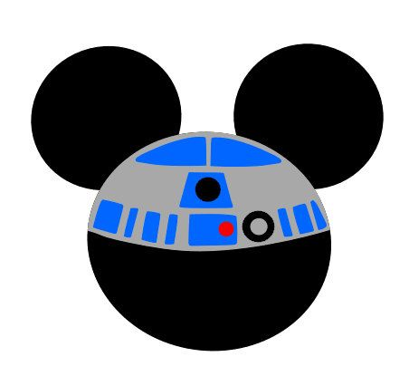R2D2 Mickey Mouse Iron On by BabyLoveChunk on Etsy, $7.00 ...
