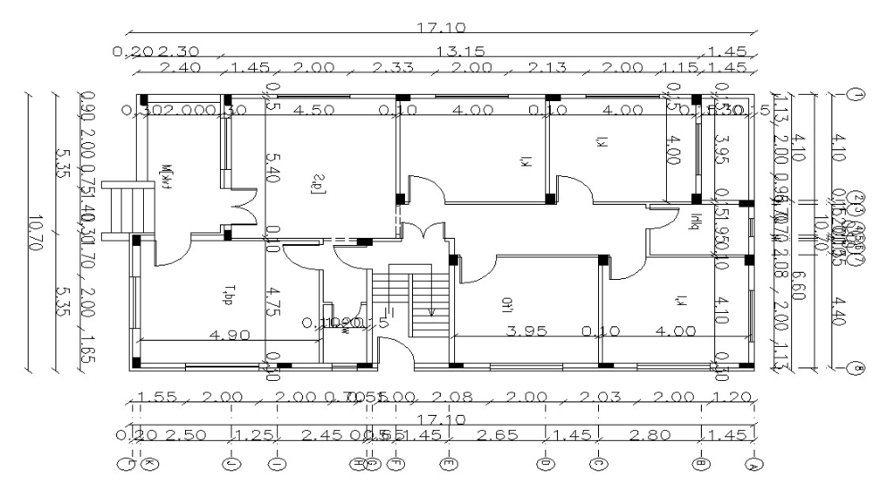 55 X 35 Ft 1925 Square Feet Residence Building Layout Plan In 2020 Building Layout Floor Plan Layout Layout Architecture