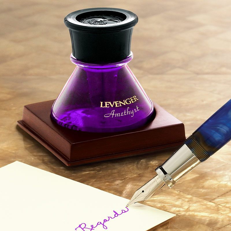 levenger bottled ink amethyst bright purple great for underlining editing writing room. Black Bedroom Furniture Sets. Home Design Ideas