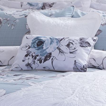 Dunelm Pretty Vintage Boudoir Duck Egg Blue Cushion Products