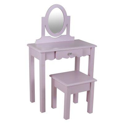 Decor Therapy Vivian Vanity With Mirror Vanity Set