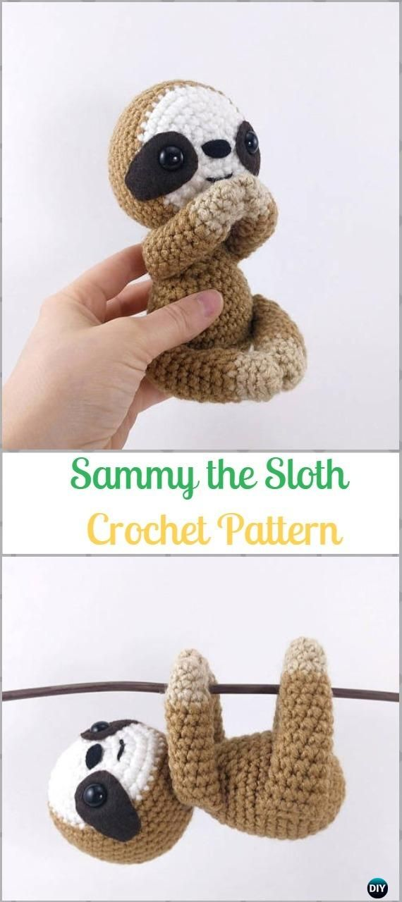 Amigurumi Crochet Sloth Toy Softies Patterns Free & Paid