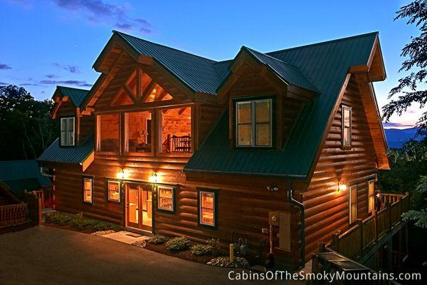 Pigeon Forge Cabin Vista Lodge 6 Bedroom Tennessee Cabins Smoky Mountains Cabins Smokey Mountain Cabins