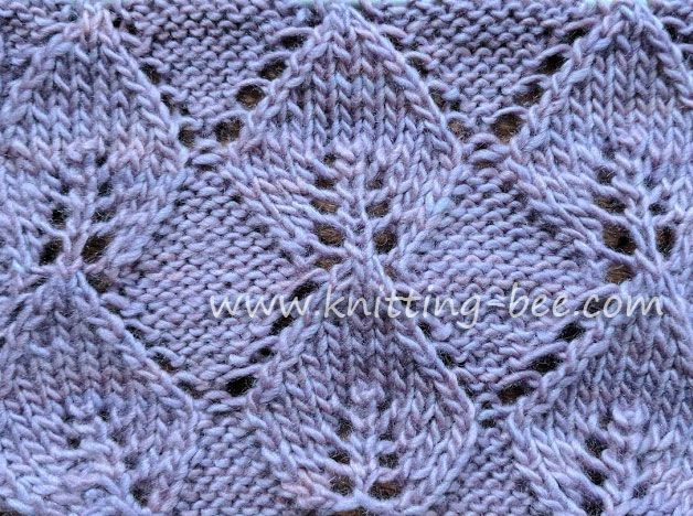 Knitted Leaf In Reverse Stockinette Free Knitting Stitch Knitting