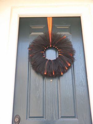 halloween tulle wreath u2013 tutorial