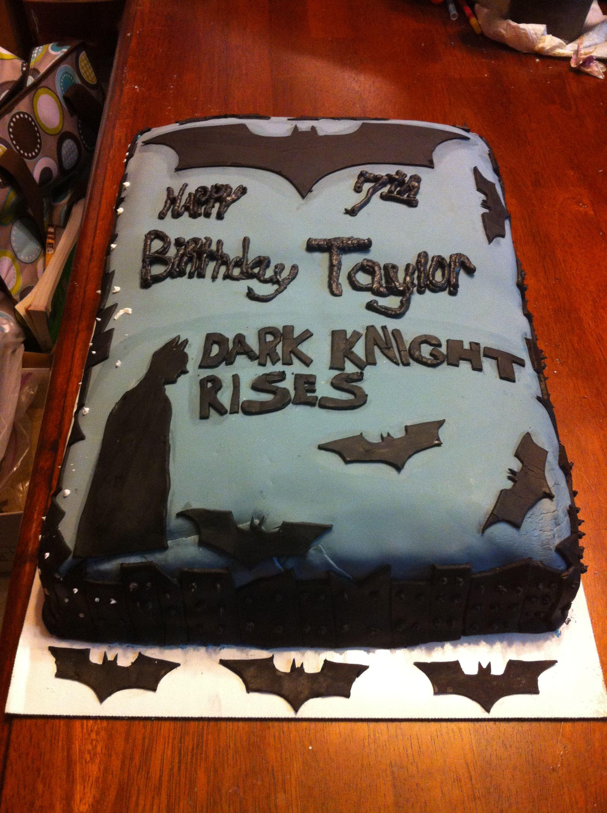 Dark Knight Rises Cake Turtle Kakes Pinterest Cake - Dark knight birthday cake