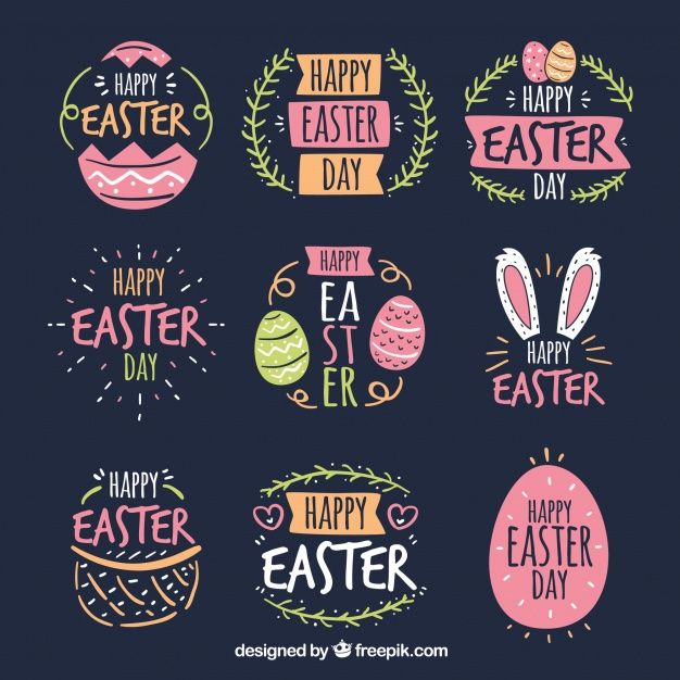 Download Set Of Easter Day Badges for free