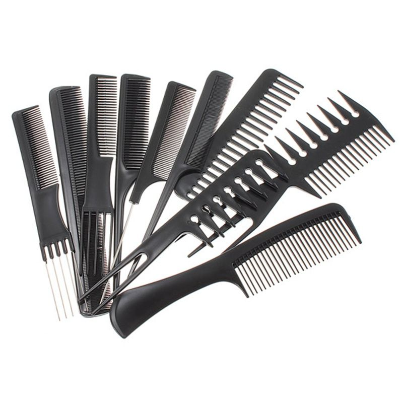 10pcs Professional Combs Set Salon Hair Black Plastic Hairdressing Comb Styling Tools Good For Barber In Combs From Health Beau Friseursalon Werkzeug Friseur