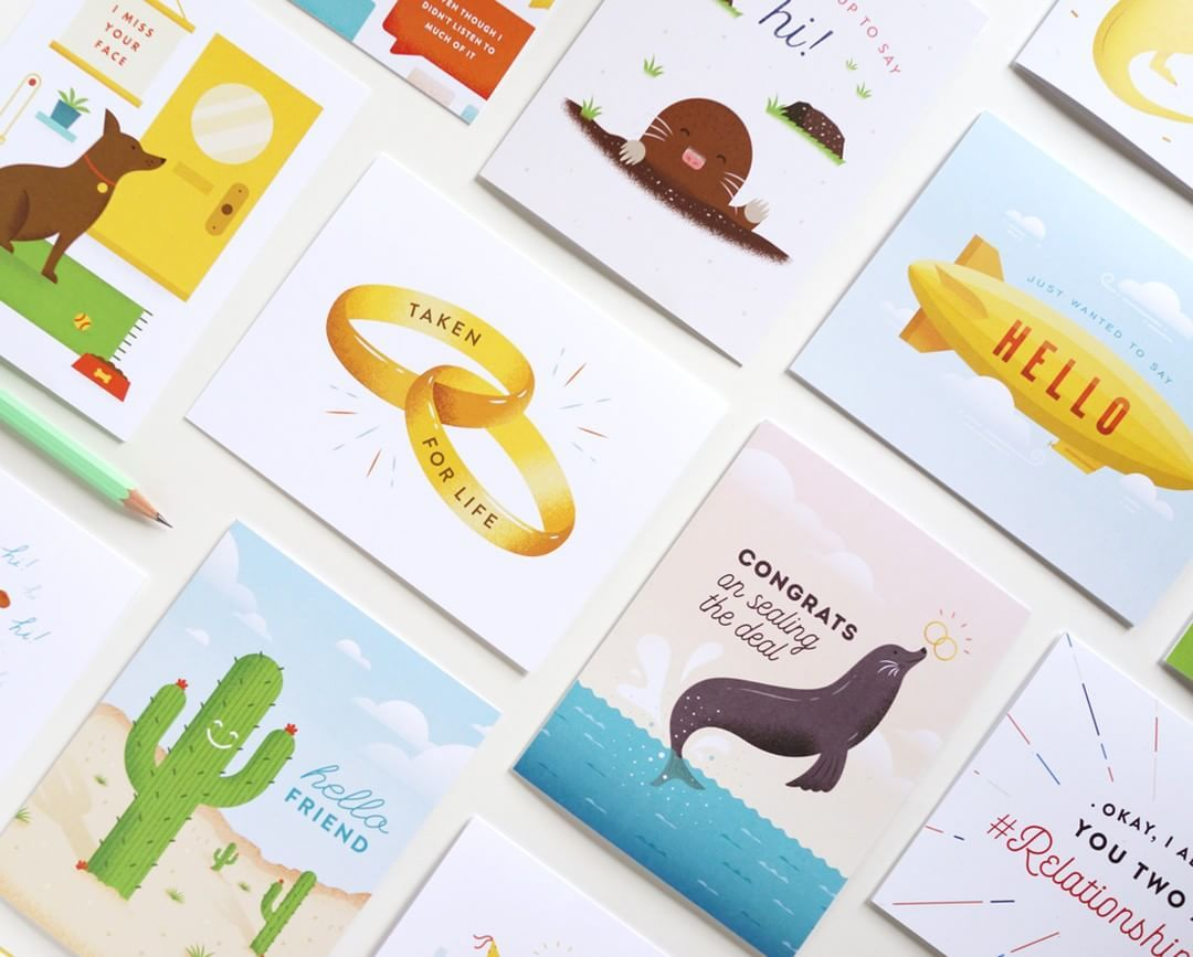 Cheeky greeting cards colorful stationery illustrated paper goods