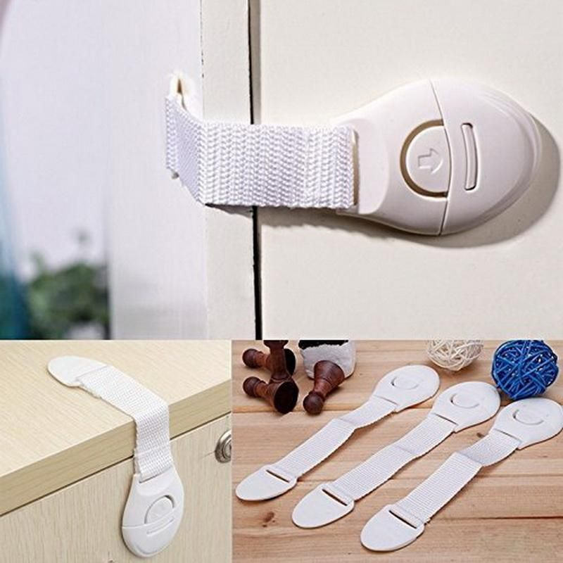Cupboard Locks Fridge Locks for Kids Cabinets and Drawers Cupboard Locks Child Safety for Refrigerator 1PCS Fridge Lock with Key 3PCS Baby Proof Cabinet Latches