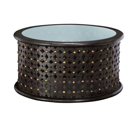 Bamileke Carved Wood Coffee Table Pottery Barn $450