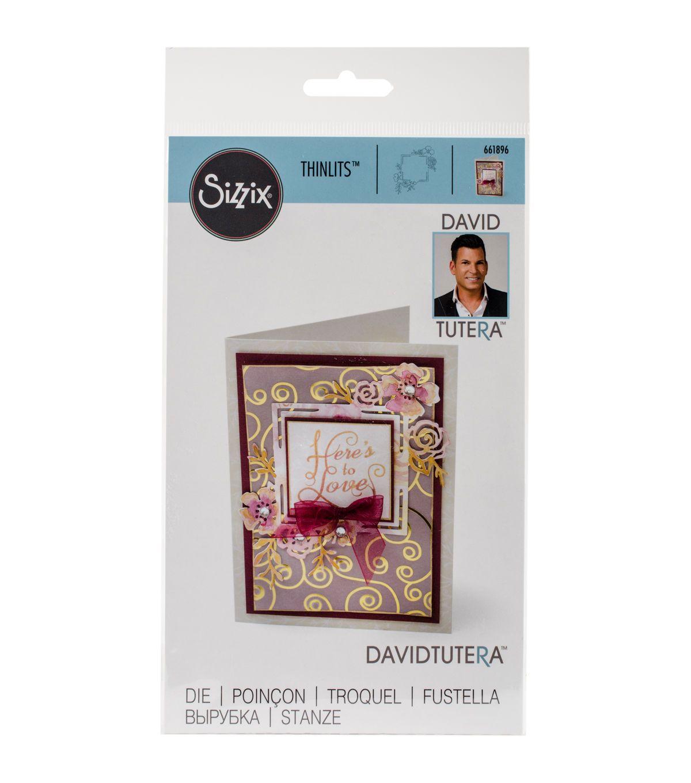 Sizzix® Thinlits™ David Tutera Die - Floral Label #1
